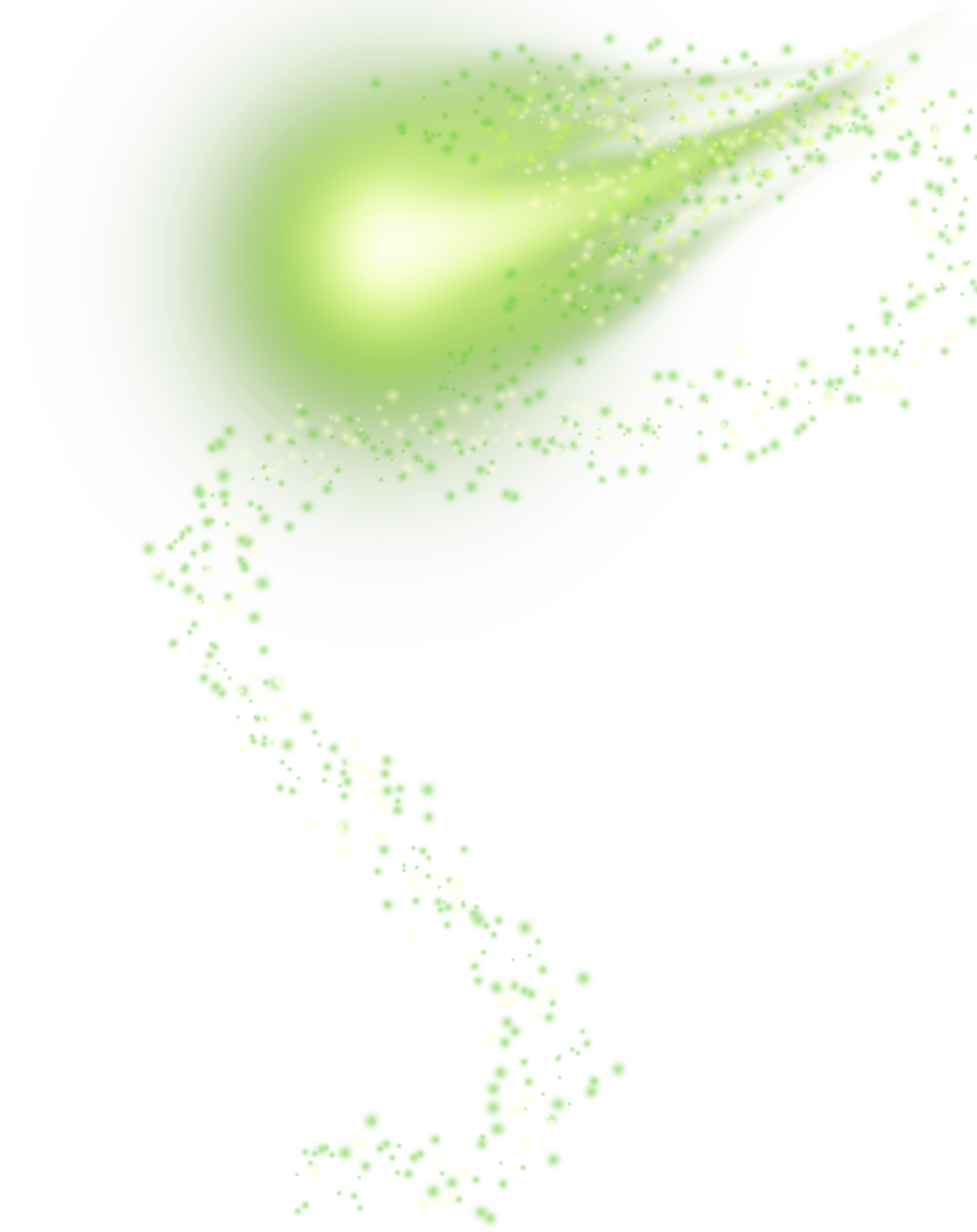 Green png effect. Light transprent free download