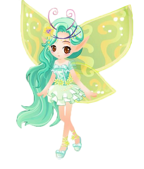 Green fairy png. Tooth the wings transprent