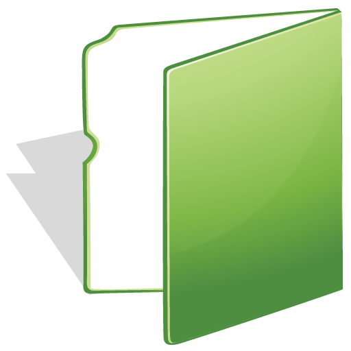 Green folder icon png. Bright by iconeden download