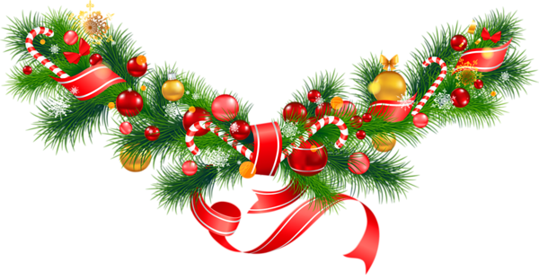 Green garland christmas ornaments png. Transparent pine with clipart