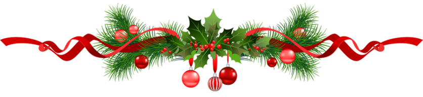 Green garland christmas ornaments png. Bows solid color deluxe