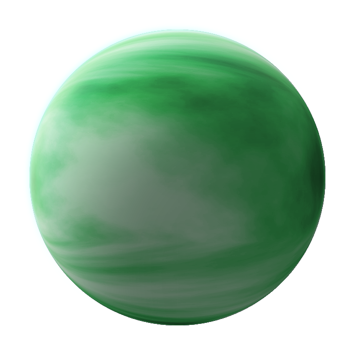 Green gas png. Planet v giant by