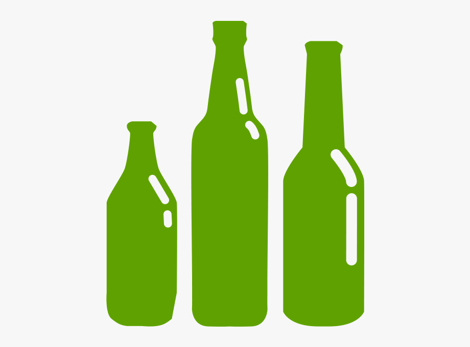 Green glass bottle. Recycle bottles clipart transparent