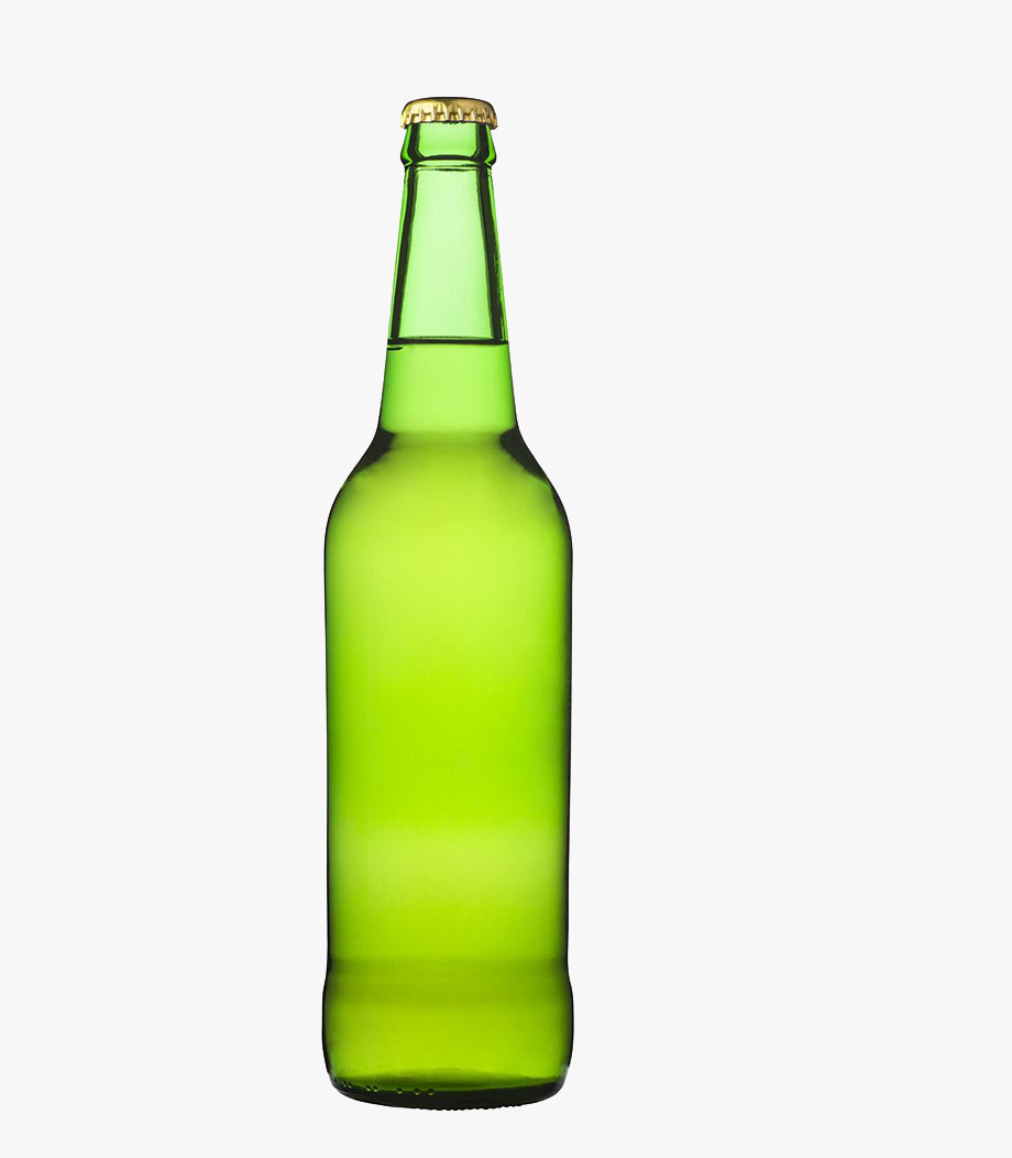Green glass bottle. Beer free hq image