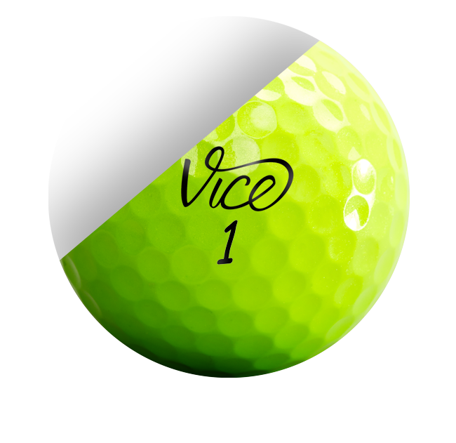 Green golf ball png. Vice pro neon lime