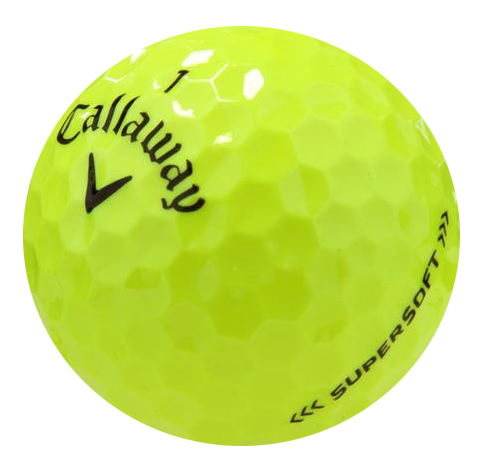 Green golf ball png. Callaway supersoft yellow monkey