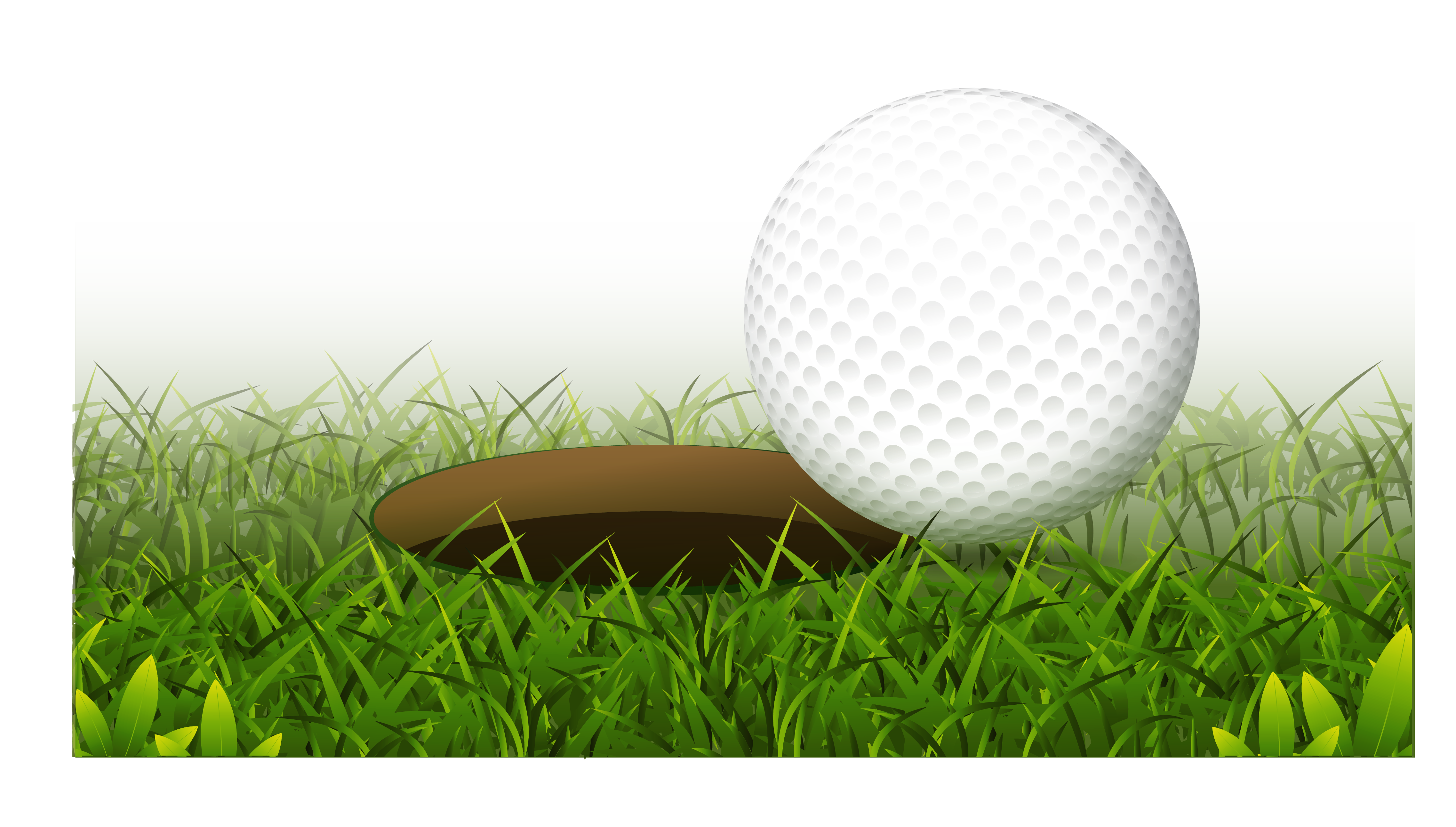 Green golf ball png. Club hole realistic transprent