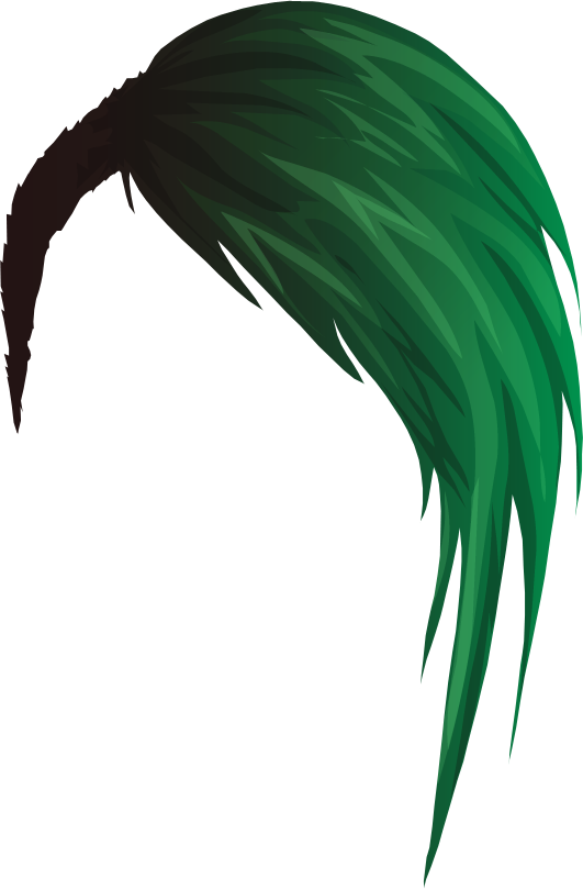 Green hair png. By thestardollprops on deviantart
