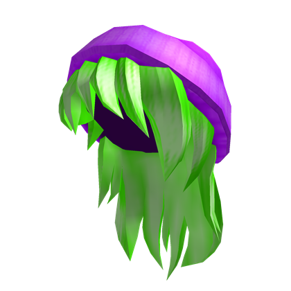 Green hair png. Image purple beanie with