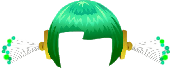 Green hair png. Space futuristic led gallery
