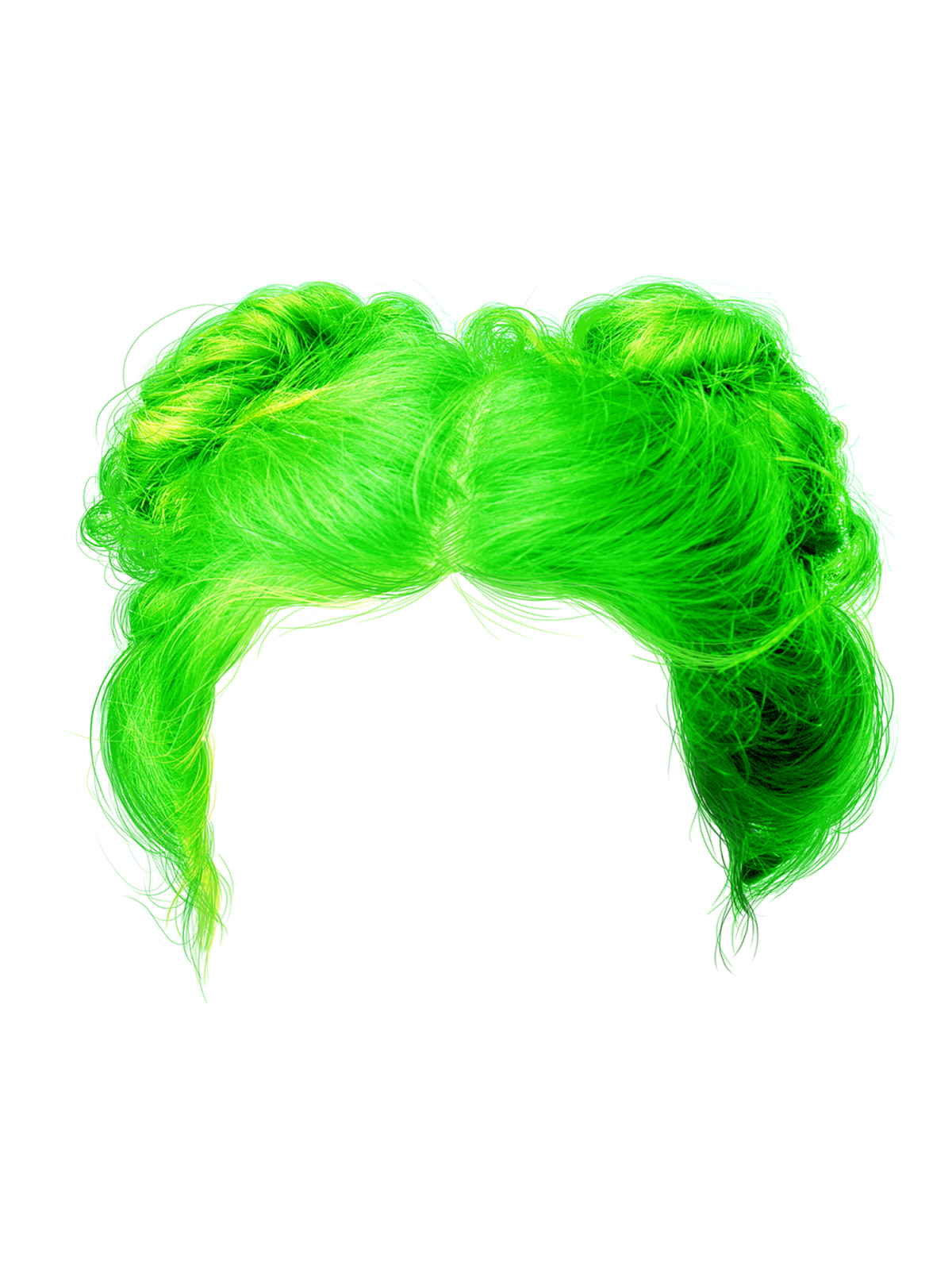 Green hair png. Colours march