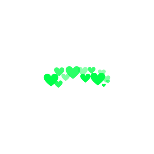 Green hearts png. Made by me ver
