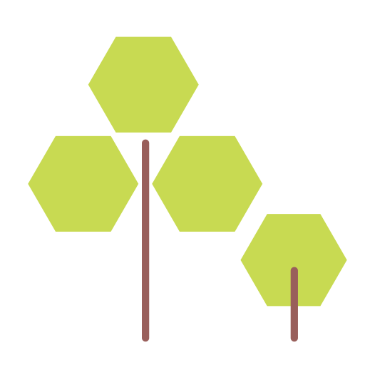 Green hexagon png. Nature tree icon