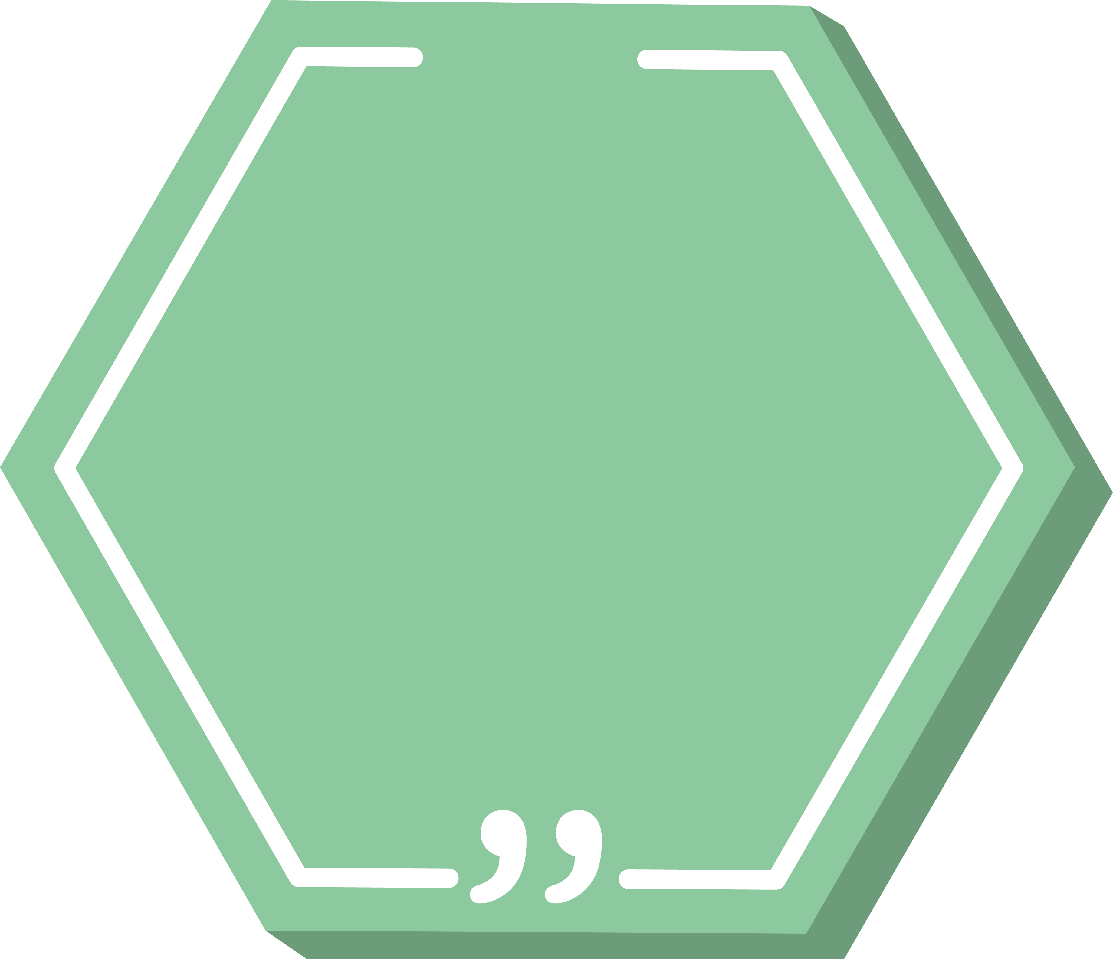 Green hexagon png. Icon title box transprent
