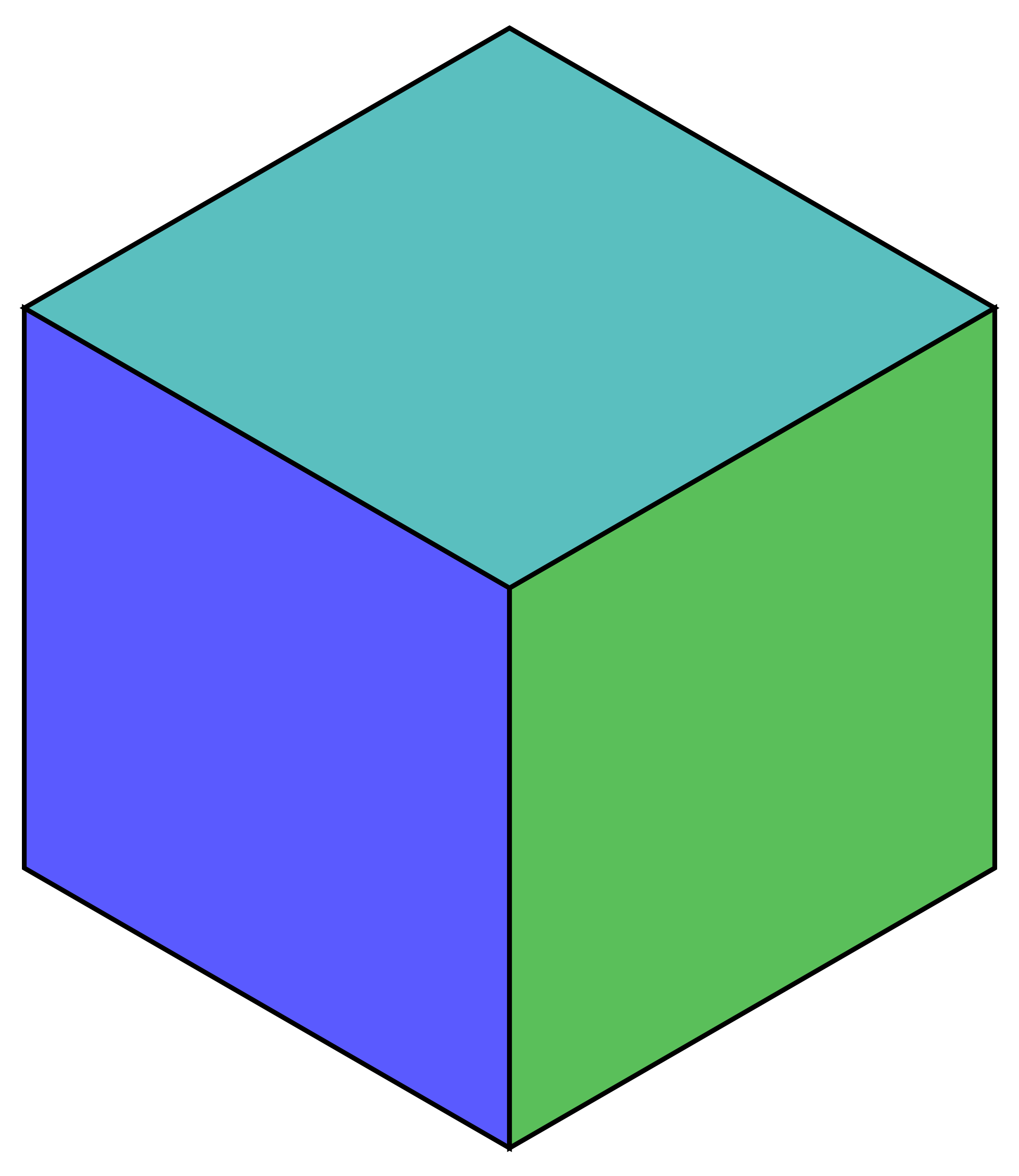 Green hexagon png. File rhombic dissected color