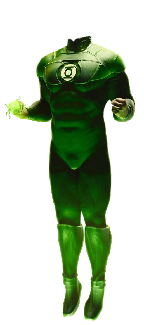 Green lantern transparent png. Body by camo flauge