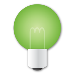 Green light bulb png. Image royalty free stock