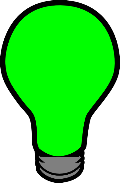 Green light bulb png. Lightbulb clip art at
