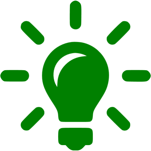 Green light bulb png. Solutions icon free icons