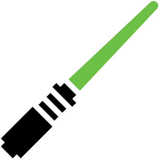 Green light saber png. Star wars by symbolicons