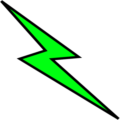 Green lightning png. Collection of bolt