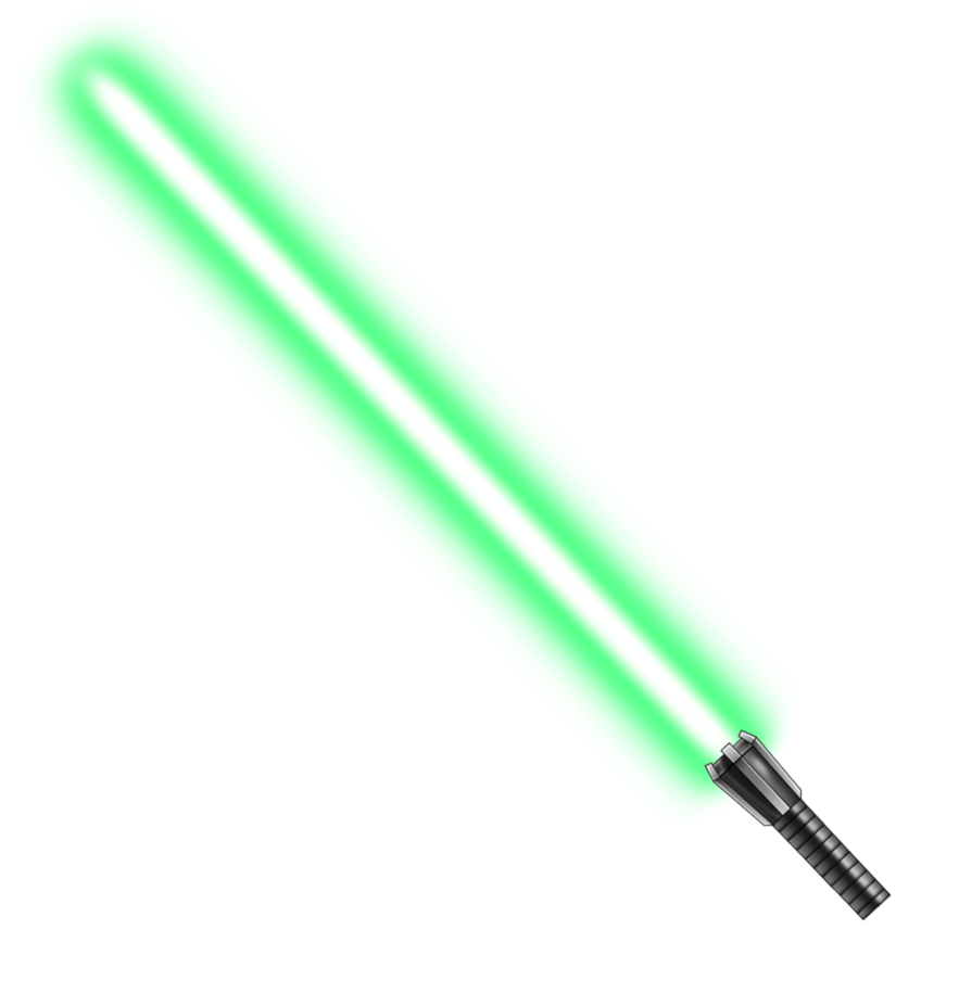 Yellow lightsaber png. Image green by mdtartist