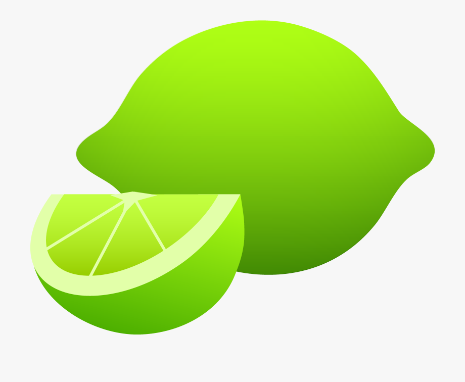 Green lemon. Lime clipart transparent