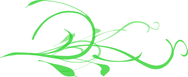Transparent k swirly. Green branches clip art
