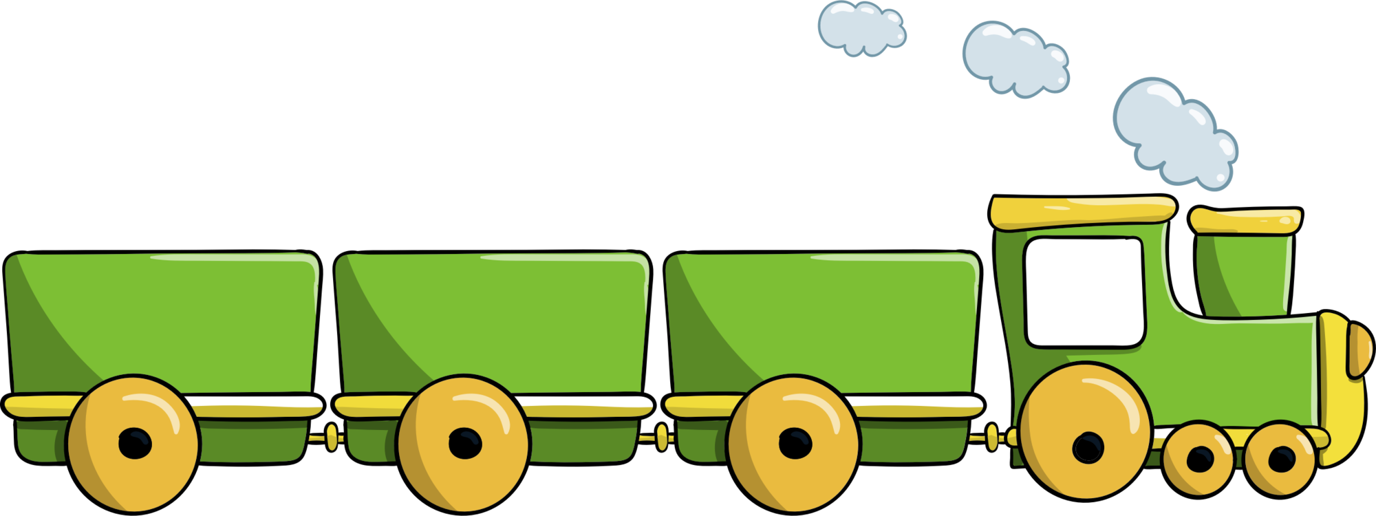Green train. Engine clipart transparent