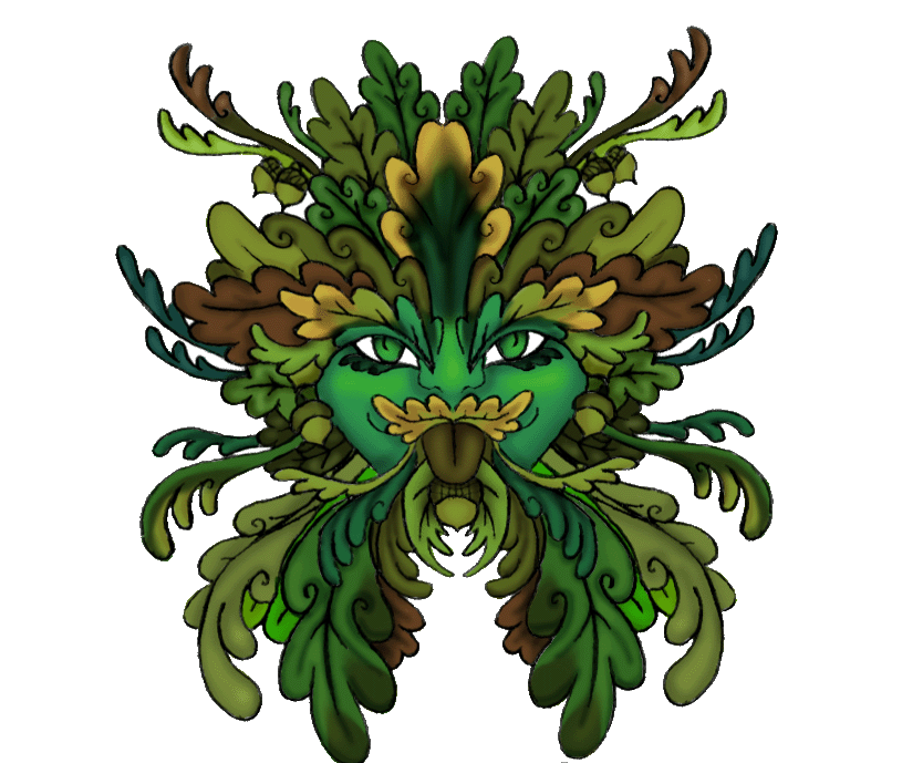 Green man png. By angl of alcos