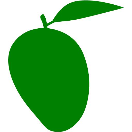 Green mango. Icon free fruit icons