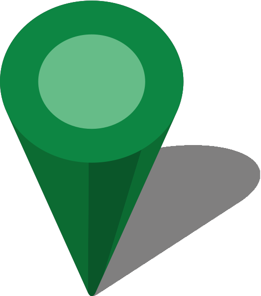Green map pin png. Simple location icon free