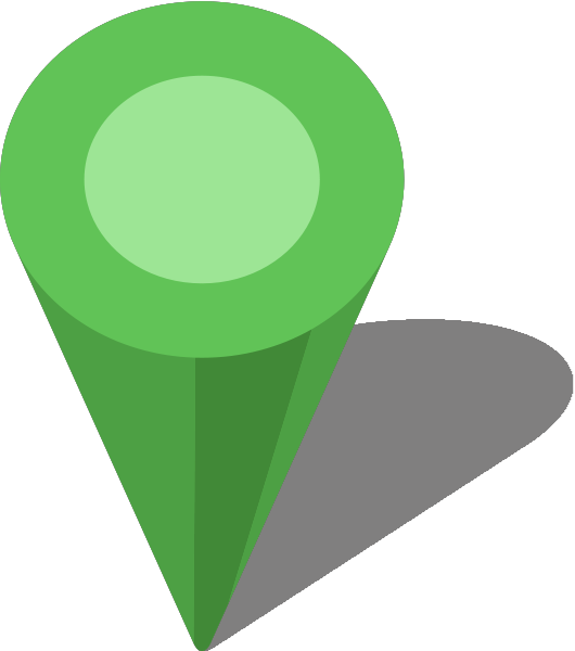 Green map pin png. Simple location icon light