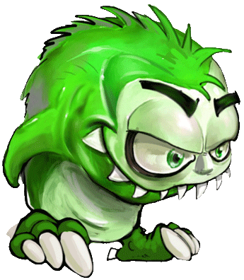 Green monster png. Envy causes disaster in
