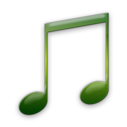 Music note png green. Clip art library