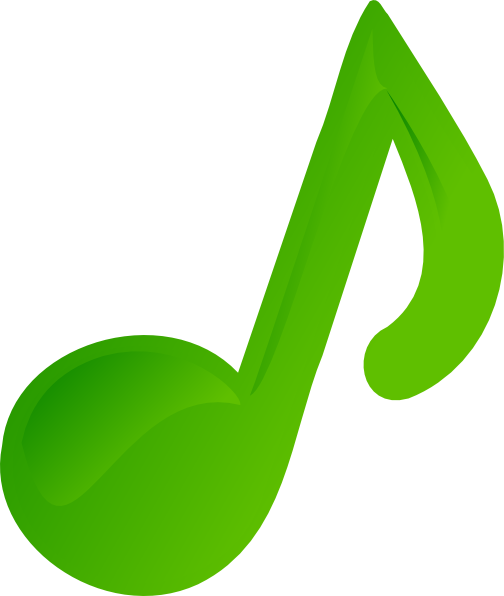 Green music notes png. Note clip art at