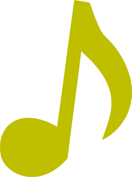 Single music notes png. Green note clip art