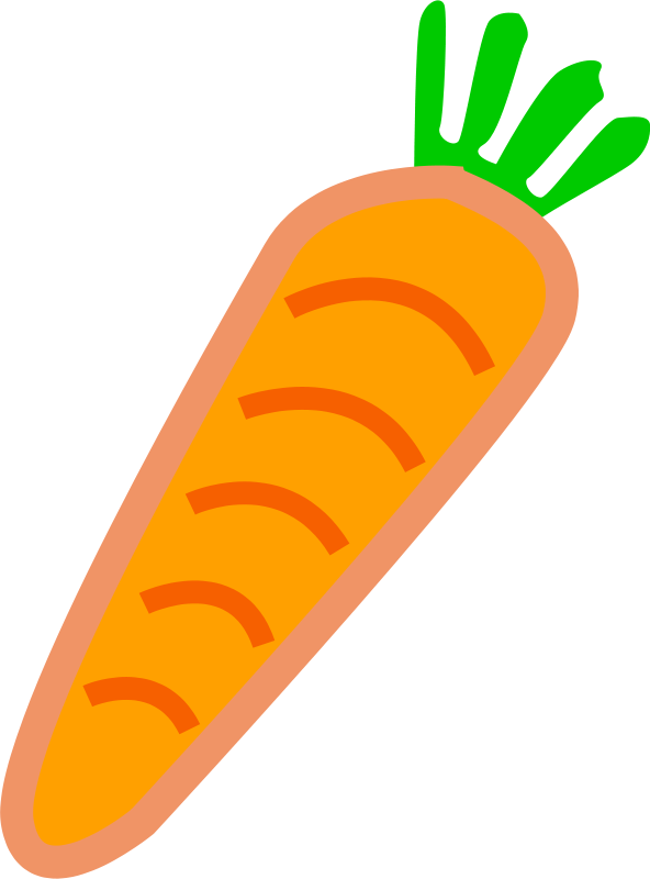 Green orange. Free clipart carrot with