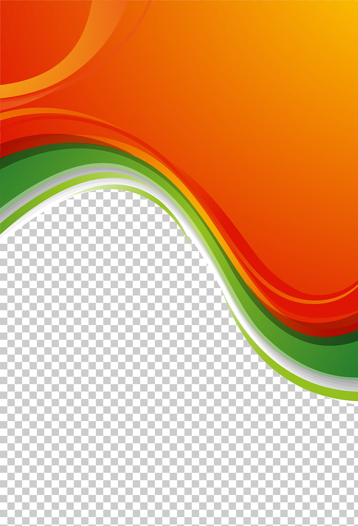 Green orange. Border material and blue