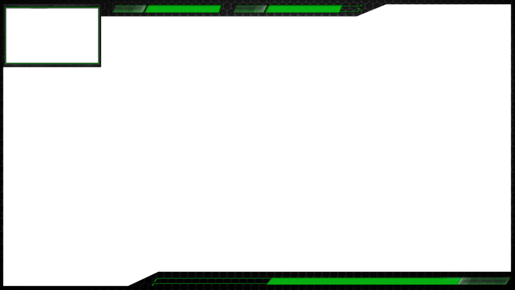 Twitch overlay template png. Green hexa by aliceshadowrose