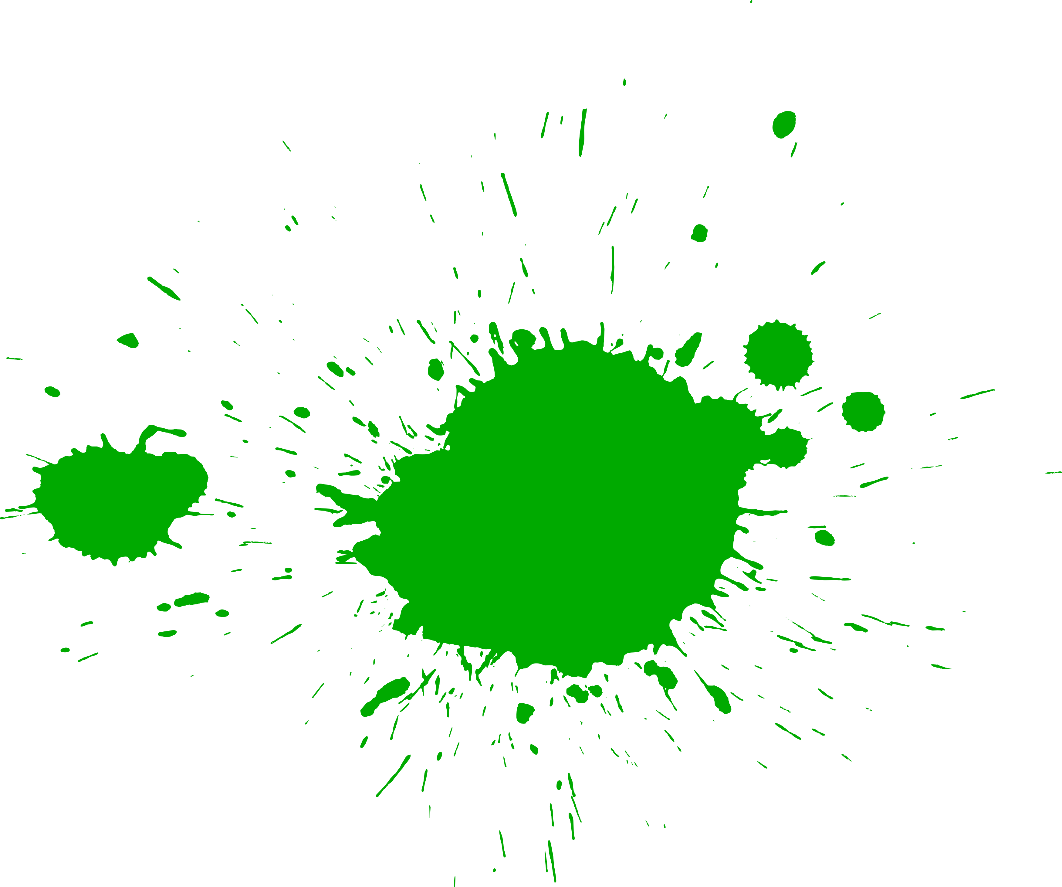 Paint splatter png. Green splatters transparent