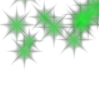 green particles png