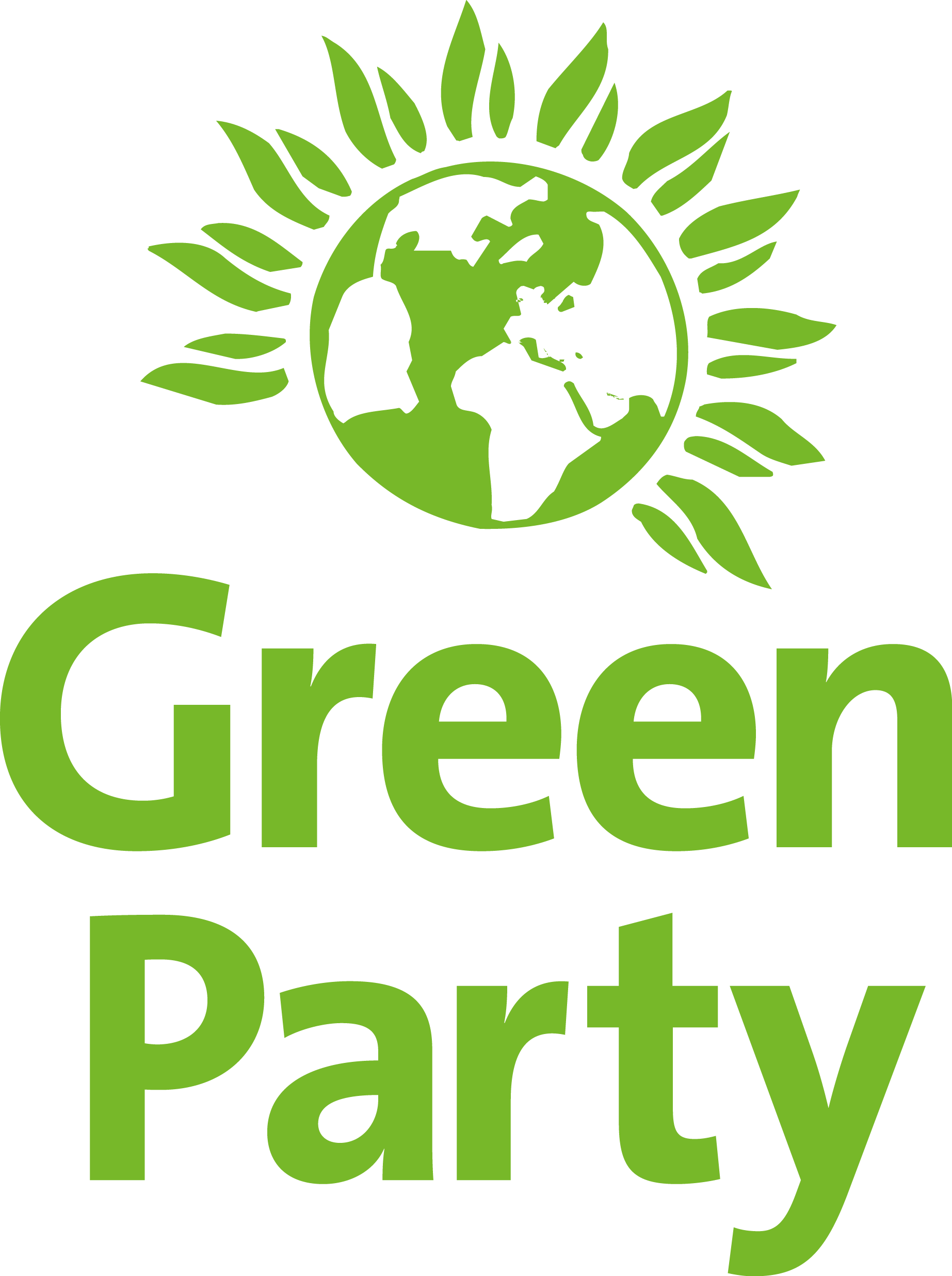 Green party logo png. Visual identity vertical on