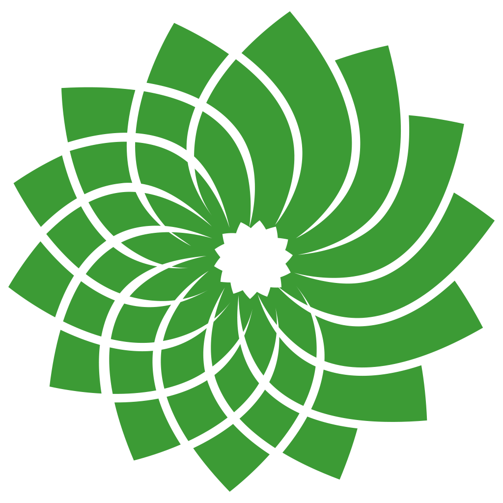 Green party logo png. Image gpc web flower