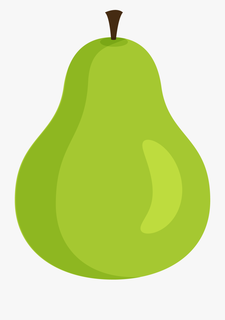 Green pear. Cartoon transprent png free