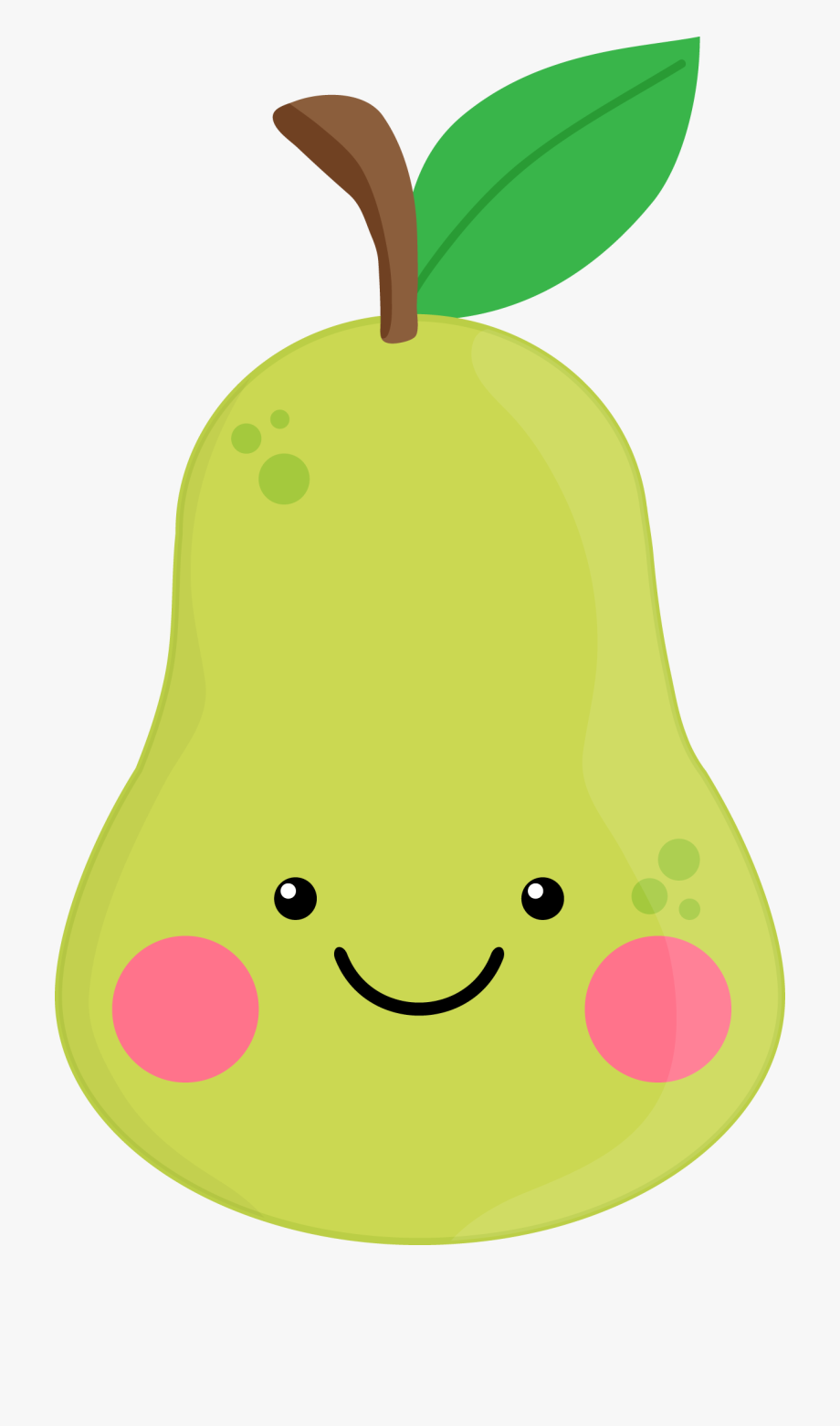 Green pear. Cute blueberry fruit clip