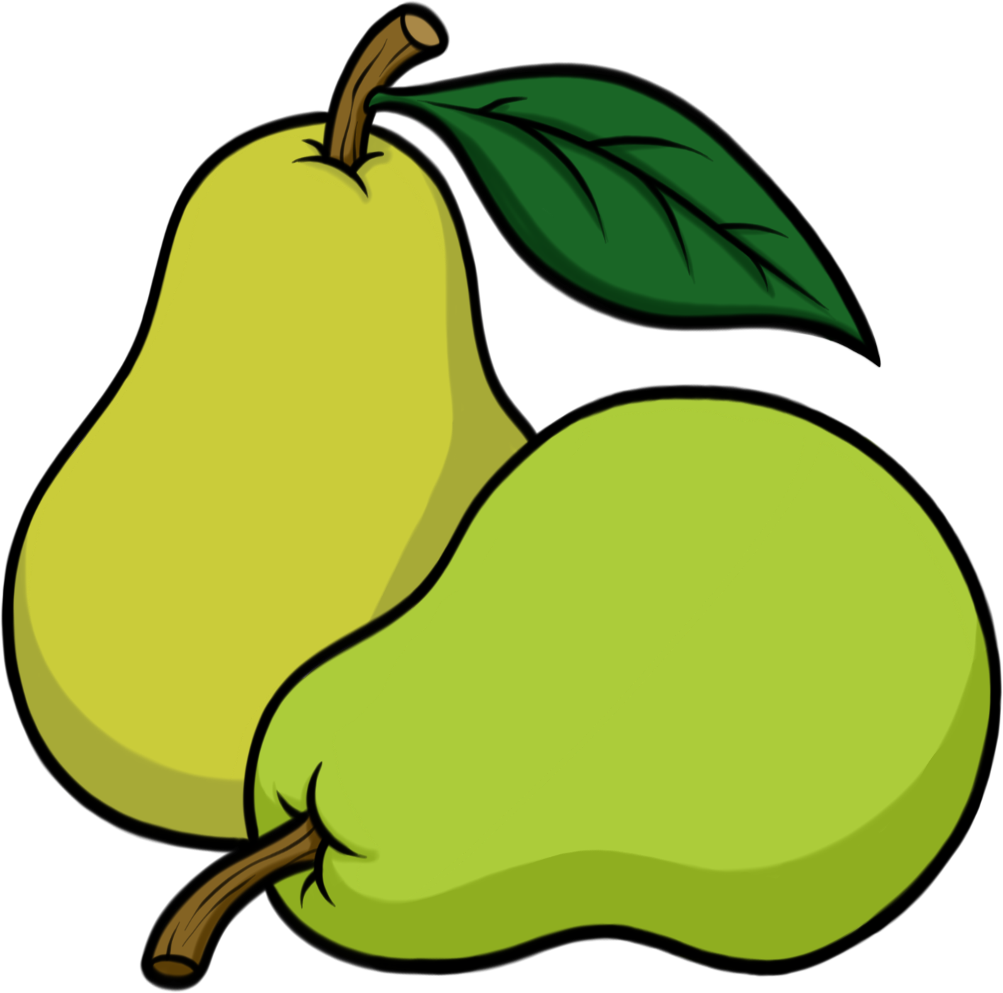 Green pear. Clipart fruit transparent free