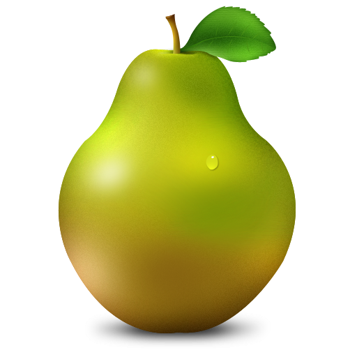 Green pear png. Icon clipart image iconbug