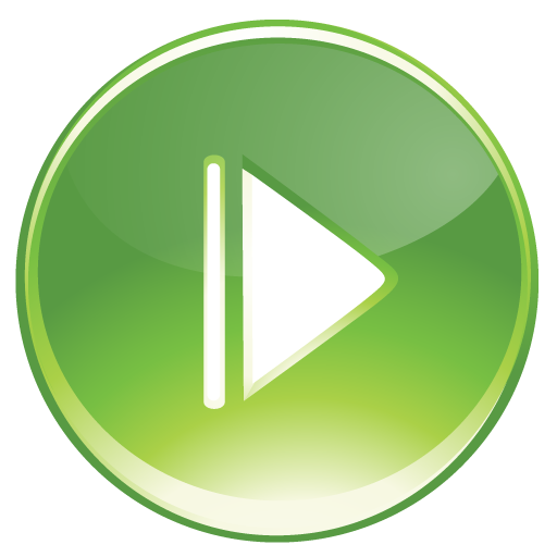 Green play button png. Bright by iconeden icon