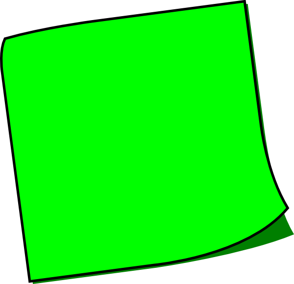 Green post it note png. Sticky clip art at